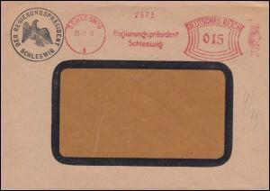 AFS Regierungspräsident Schleswig 23.11.31 mit Briefstempel Fensterbriefumschlag