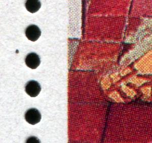 Block 56I Weihnachten 2226 PLF im Blockrand: schwarzer Fleck über den Füßen, **
