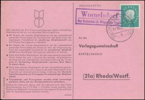 Landpost Womelsdorf über ERNDTEBRÜCK (KR WITTGENSTEIN 31.10.1960 auf Postkarte