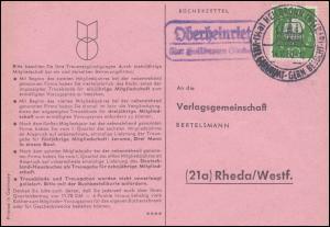 Landpost Oberheinriet über Heilbronn auf Postkarte SSt HEILBRONN 14.10.1960