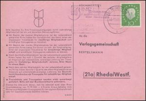 Landpost Bronnen über MINDELHEIM 1.11.1960 auf Postkarte nach Rheda/Westf.