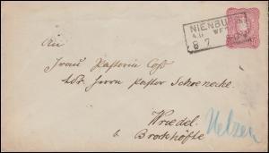 Umschlag U 12A Adler NIENBURG 8.7. nach Wriedel bei Brockhöfe über EBSTORF 9.7.