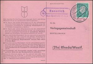 Landpost Ennerich über LIMBURG (LAHN) 31.01.1960 auf Postkarte nach Rheda/Westf.