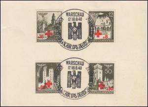 Generalgouvernement 52-55 Rotes Kreuz auf Vorlage ESSt WARSCHAU 17.-18.8.1940