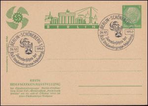 PP 126 Erste Briefmarkenausstellung Berlin-Schöneberg passender SSt 26.10.1940