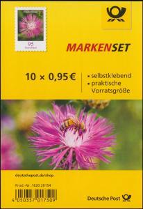 FB 90b Blume Flockenblume, Folienblatt mit 10x 3483, -20154, postfrisch **