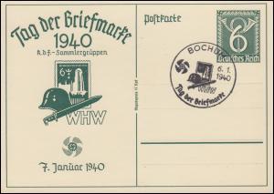 P 288 Tag der Briefmarke WHW passender SSt BOCHUM Danziger Marienkirche 6.1.1940