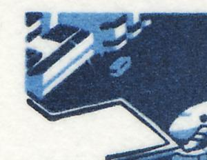 25bv MH SWK weiße Gummierung, PLF I Strich im Gebäude, Feld 1, **