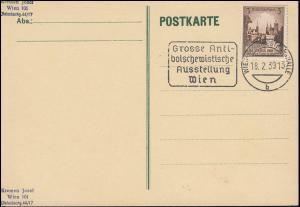 Grosse Antibolschewistische Ausstellung WIEN-NORDWESTBAHNHALLE 18.2.1939