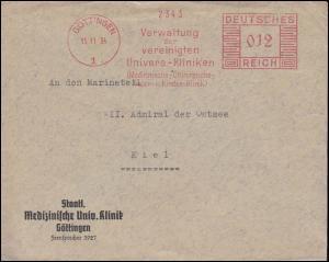 AFS Verwaltung der vereinten Universitäts-Kliniken Göttingen 15.11.34 auf Brief