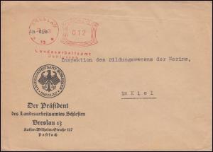 AFS Landesarbeitsamt Schlesien Breslau 28.7.34 auf Fernbrief nach Kiel