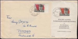 Block 14 Thälmann-Block mit 620A Thälmann gezähnt MiF Brief THARANDT 1.7.1956