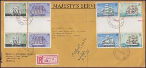 Bermuda 326-329 Segelschiffe Cutty Sark mit Zwischensteg R-Bf. HAMILTON 29.11.76