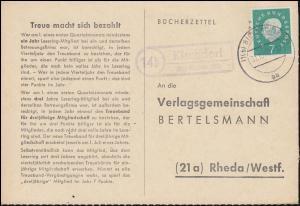 Landpost Kirchdorf über BIBERACH (RISS) 31.10.1960 auf Bücherzettel nach Rheda