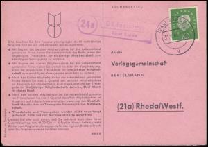Landpost Düdenbüttel über STADE 1 - 31.10.1960 auf Postkarte nach Rheda/Westf.
