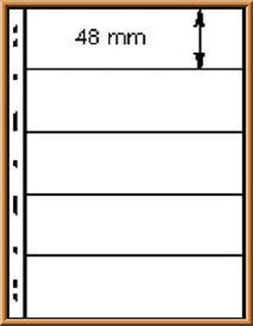 Lindner UNIPLATE 075, schwarz, 5 Streifen (je 48 mm hoch), 5 Blätter 0