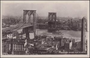 USA-Ansichtskarte Brooklyn-Bridge, BROOKLYN N.Y. 28.8.11 nach Steglitz/Berlin