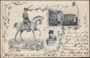 Ansichtskarte NEC ASPERA TERRENT, BRAUNSCHWEIG 18.5.1906 nach BLANKENBURG 19.5.