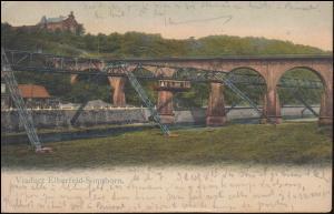 Ansichtskarte Viaduct Elberfeld-Sonnborn: Wuppertaler Schwebebahn, CÖLN 26.9.05