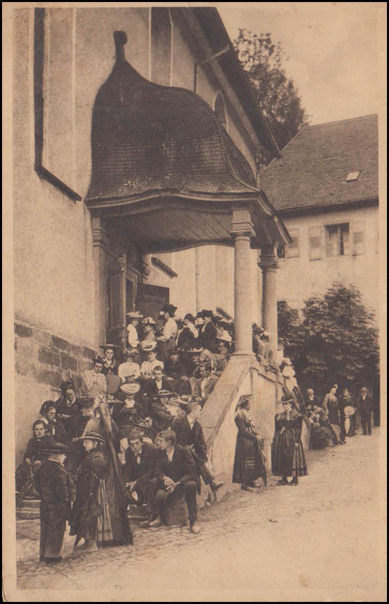 Bahnpost FREIBURG (BREISGAU) - DONAUESCHINGEN ZUG 1552 - 5.3.1907 auf  AK 0