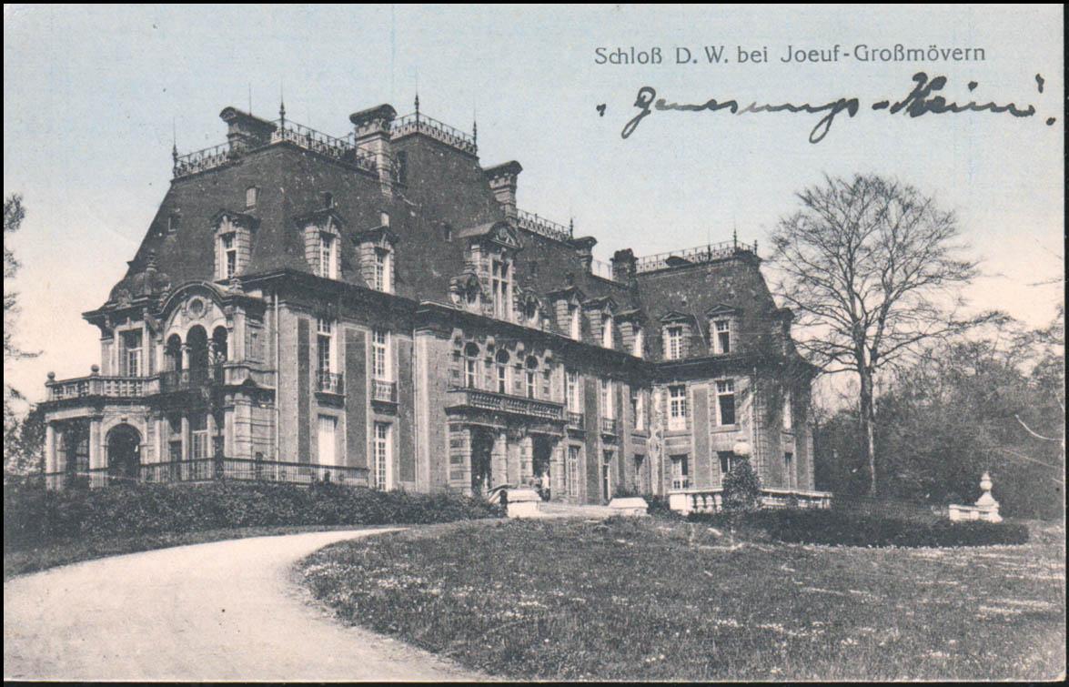 Ansichtskarte Schloß D.W. bei Joeuf-Großmövern / Diedenhofen 23.12.1916  0