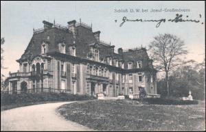 Ansichtskarte Schloß D.W. bei Joeuf-Großmövern / Diedenhofen 23.12.1916