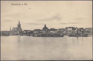 Ansichtskarte Emmerich am Rhein, EMMERICH 9.8.1913 nach England