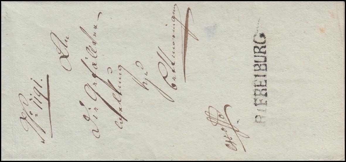 Baden Vorphilatelie Faltbrief Rayonstempel R1 FREIBURG geschrieben 27.1.1810 0