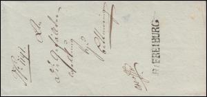 Baden Vorphilatelie Faltbrief Rayonstempel R1 FREIBURG geschrieben 27.1.1810