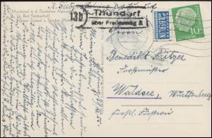 Landpost Thundorf über FREILASSING 30.12.1955 auf AK Mauthäusl / Alpenstraße
