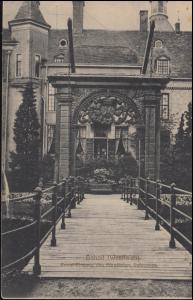 Ansichtskarte Anholt/Westf. Privat-Eingang des Fürstlichen Schlossess, 30.6.1917