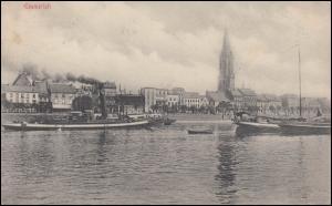 Ansichtskarte Emmerich am Rhein, EMMERICH 1.8.1915 als Feldpostkarte nach Essen