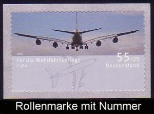 2676 Airbus A380 sk aus Rolle, UNGERADE Nummer, postfrisch **