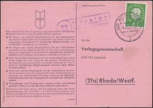 Landpost Horsten über WILHELMSHAVEN 4.11.1960 auf Postkarte nach Rheda/Westf.
