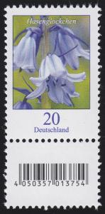 3315 Blume 20 Cent aus 200er-Rolle, mit Nummer und Codierfeld **