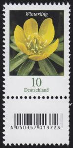 3314 Blume 10 Cent aus 200er-Rolle, mit Nummer und Codierfeld **