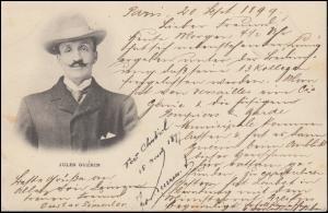 Ansichtskarte Bildnis von Jules Guerin, PARIS 20.9.1899 nach ZÜRICH 21.9.99
