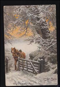 Künstler-AK Tuck's Post Card Harry Payne: Winker in the Park, gelaufen 1914