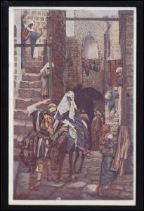 Künstler-AK Gemälde Josef Suche nach einem Obdach in Bethlehem, gelaufen 1931