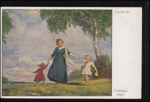 Künstler-AK Primus-Postkarte Corneille Max: Frühlingsreigen, gelaufen BERN 1921