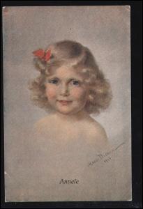 Dresdner Künstler-Karte M. Pichon: Annele, gelaufen um 1922