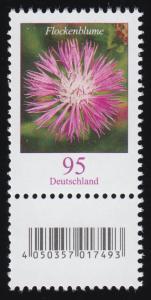 3470 Flockenblume 95 Cent aus 500er-Rolle, mit Nummer und Codierfeld **