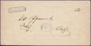 Schweiz Faltbrief Einzeiler ARLESHEIM geschrieben 10.5.1856 nach ESCH 14.5.56