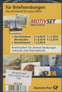 MOTIVSET für Briefe/D, Europa, Welt 2007, Postpreis 6,55 Euro - mit Label **