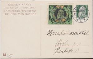 Bayern Privatpostkarte PP 27 Regentschaftsjubiläum Luitpold MÜNCHEN 10.6.1911