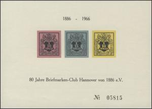 Sonderdruck Hannover 3-5 Neudruck HANAPOSTA 1966