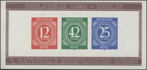 APHV Philatelia Köln Ziffern 12/42/25 B UNgezähnt 1990