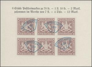 Sonderdruck Württemberg 70 Kreuzer 1957, gestempelt