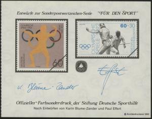 Sporthilfe Sonderdruck aus MH 1992 Fechten **