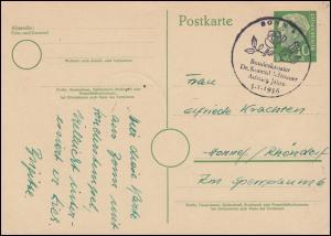 SSt 80. Geburtstag Bundeskanzler Dr. Konrad Adenauer 5.1.1956 auf Postkarte
